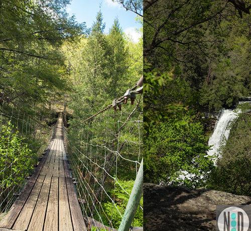 Piney Falls Waterfall and Suspension Bridge Grandview, TN