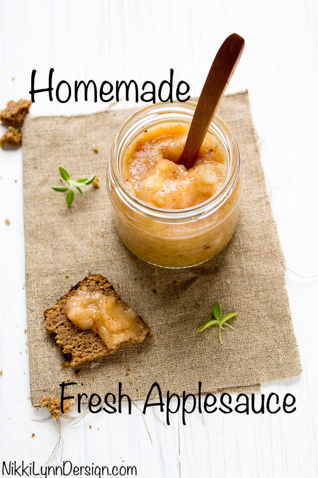 Fresh and Chunky Applesauce