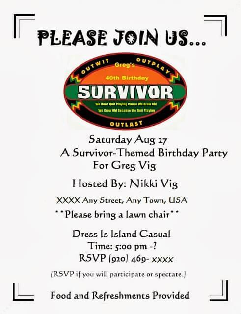 Survivor 40th Birthday Party