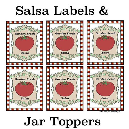 picture regarding Printable Jar Labels identify Totally free Printable Salsa Lid Labels and Jar Labels Nikki Lynn