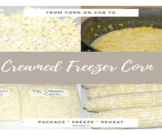 Recipe using corn on the cob to make freezer creamed corn
