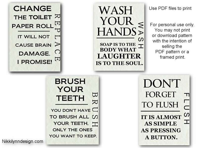 Free Printable Bathroom Wall Art Prints