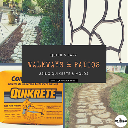 Quikrete Walkway Patio - How to Make a Quikrete Walkway or Patio Making a custom concrete walkway or Patio takes some time and effort but the end results look professional. The materials needed are minimal and allow for you to take your time and create a visual appealing outdoor space.