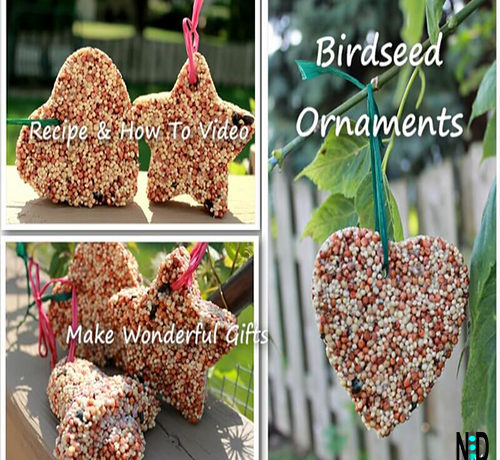 Recipe to Make Hanging Outdoor Birdseed Ornaments