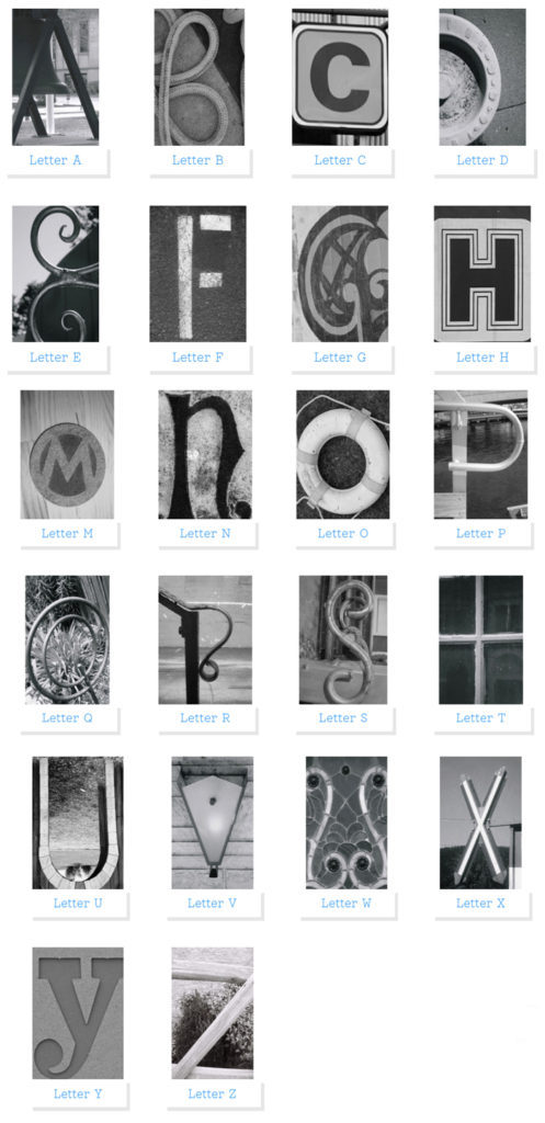 Spell Anything With my 4x6 Alphabet Letter Photos