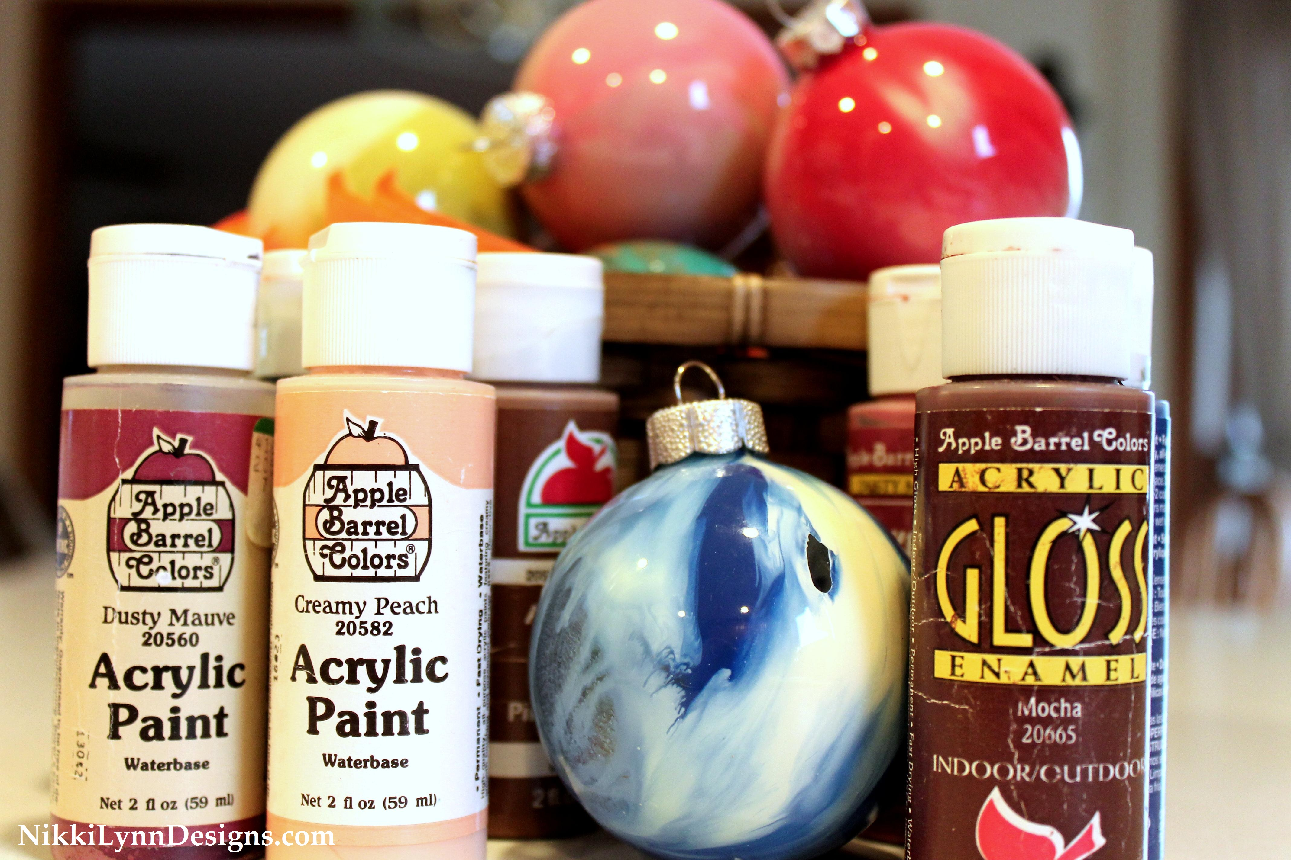 Acrylic Paint And Glass Bulb Christmas Ornament (cheap & Easy – Kids Can Do  It)