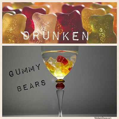 Drunken Gummy Bears - These little bite sized treats go over very well. Soaked in cherry flavored alcohol. The gummy bears swell and are a tasty treat.