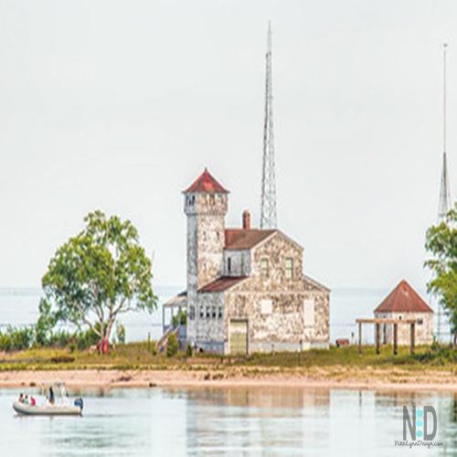 Plum Island Lighthouse Door County Wisconsin Great Lakes