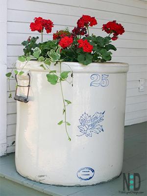 Stone Crock Flower Pots