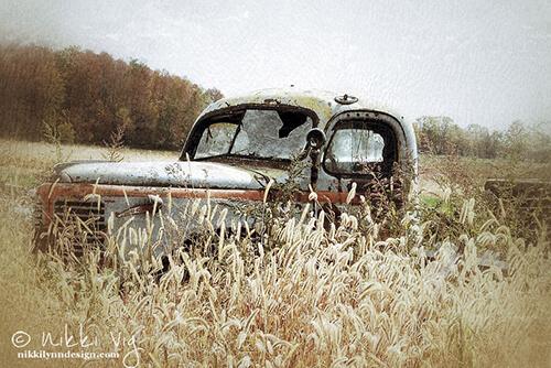 Autumn Pleasure Truck Photography Print