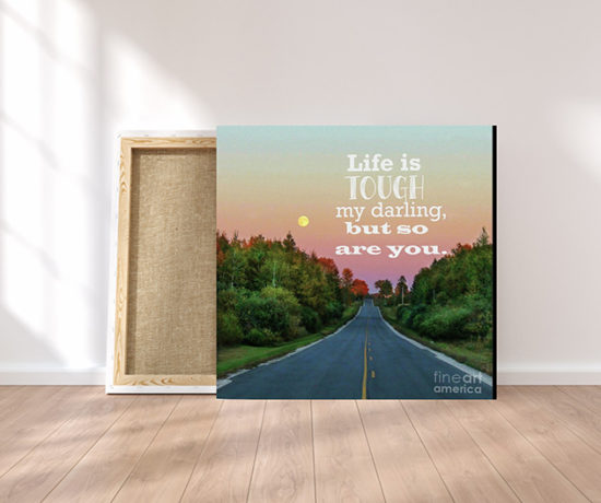 Life is too Short to be at War With Yourself or Others - Life is Tough Fine Art Canvas Print