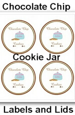 Chocolate Chip Cookies in a Jar Instructions and FREE PRINTABLE Lids and Labels