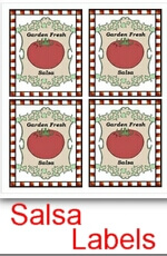 FREE Printable Garden Salsa Labels