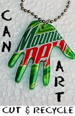 How to cut aluminum cans for art projects
