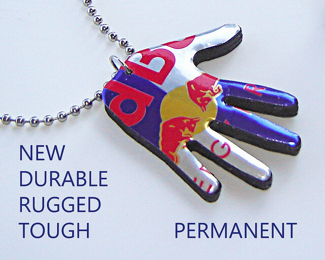 Necklace out of aluminum cans