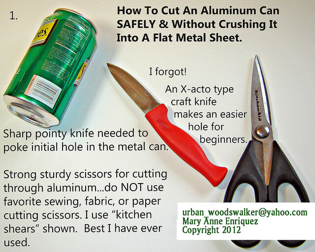 Jewelry from aluminum cans