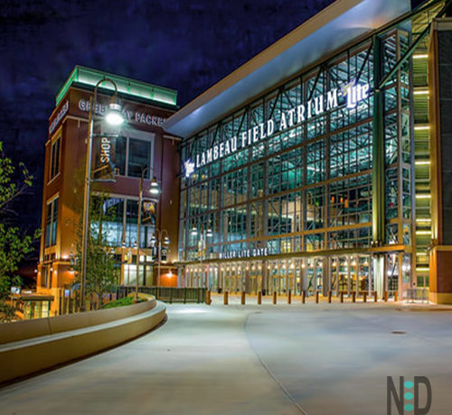 Lambeau Field is Peaceful at Night