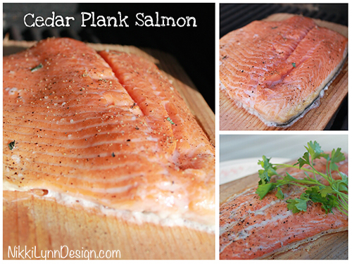 Cedar Plank Salmon on Grill I NikkiLynnDesign