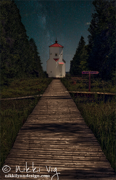 Baileys Harbor Lighthouse Photography Print Door County Wisconsin