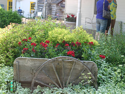 Old Style Wagons Flower Planter Container