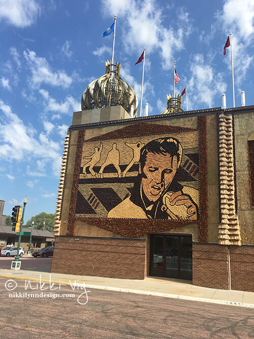 Elvis on the Corn Palace, South Dakota