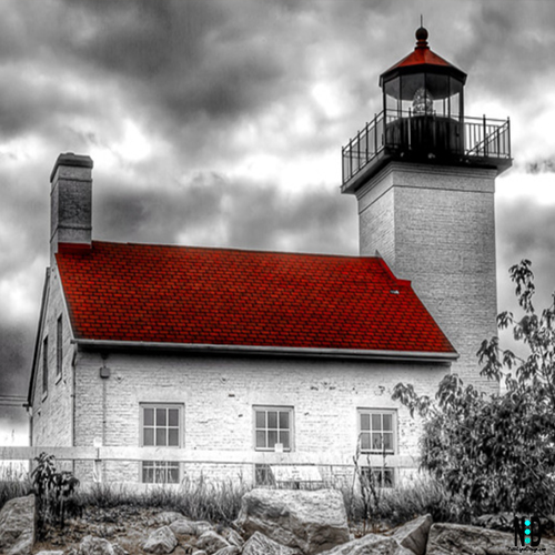 Sand Point Lighthouse Escanaba Michigan