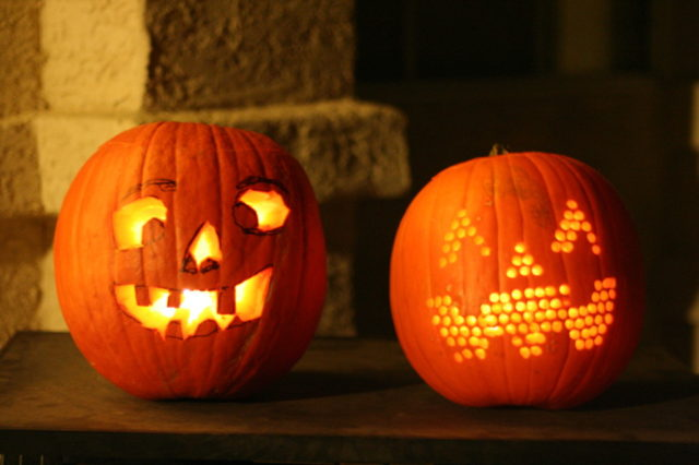Drilled Halloween Pumpkins - Carving made simple.