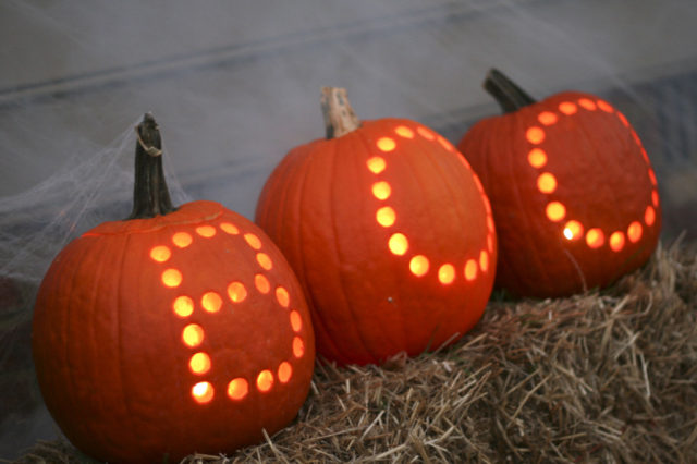 Boo! Drilled Halloween Pumpkins - Carving made simple.