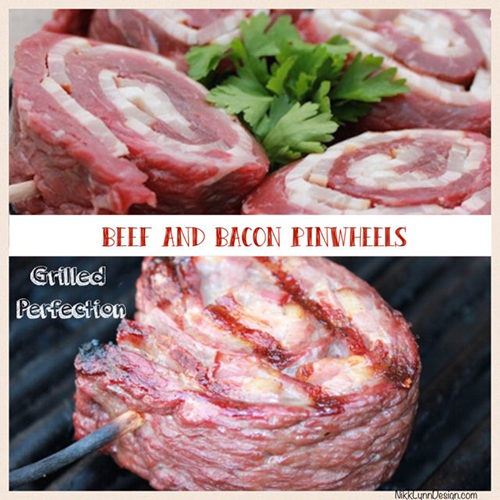 Beef & Bacon Pinwheels - Beef flank steak, married with bacon and grilled to perfection.