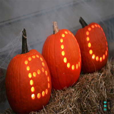 Halloween Drilled Pumpkins