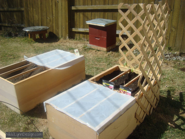 Raised garden bed box out of old dresser