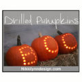 Drilled Pumpkins Carving Made Simple