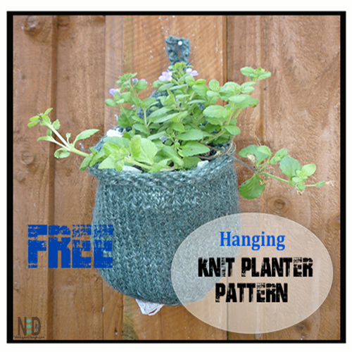 Hanging Knit Planter Basket