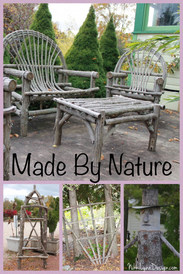 Garden crafts made from wood or sticks for Wood ornaments for the garden that you can make at home