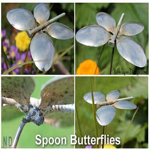 Garden Spoon Silverware Butterflies