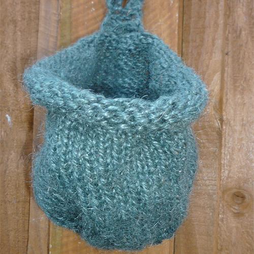 Hanging Knit Planter Basket