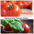 tomato paste recipe - If you make your own it is guaranteed to be tastier the store bought and have a lot less salt.