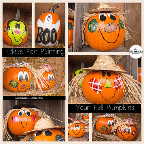 Painted Fall Halloween Pumpkins