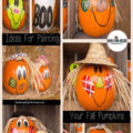 Painted Fall Pumpkins - Now that they kids are older,making painted pumpkins for fall decor. are my first choice. Instead of lasting a week or two, they look great through Thanksgiving.