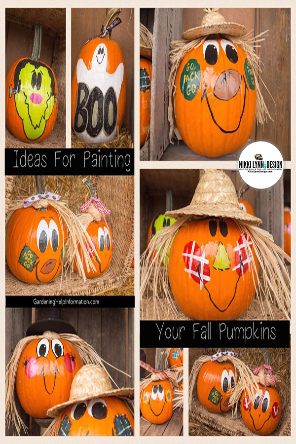 Painted Fall Pumpkins - Now that they kids are older, making painted pumpkins for fall decor. are my first choice.  Instead of lasting a week or two, they look great through Thanksgiving.