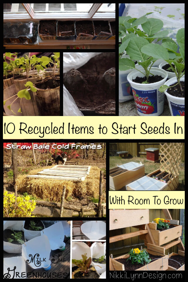 Recycled Items to Start Seeds