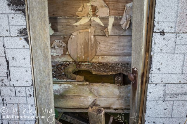 Look Inside - A look inside an old outhouse. Photography prints available to purchase.