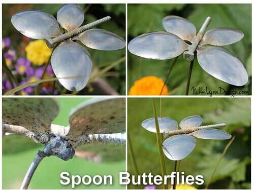 Garden Butterfly From Recycled Spoons - Garden Butterfly From Recycled Spoons Make this cute garden butterfly from recycled spoons for your garden ornaments in a matter of minutes.