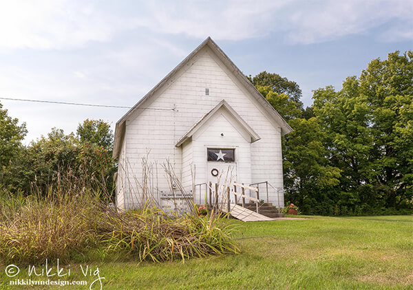 The White Star Psychic Church, Brussels, Wisconsin - The White Star Church in 1888. The church still stands today and does have a following in the area. It is the last remaining spiritualist church in Northeast Wisconsin and one of the few remaining in Wisconsin.