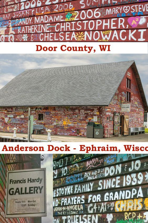 Door County Anderson Dock and Francis Hardy Gallery - Ephraim, Wisconsin