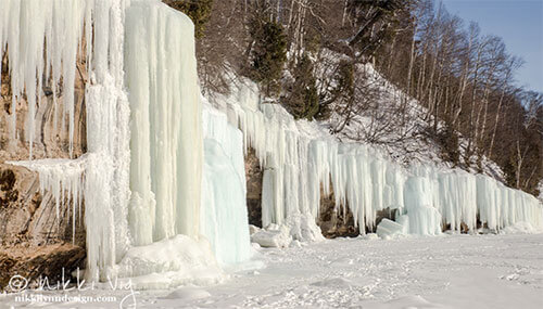 Grand Island Michigan Ice Curtains