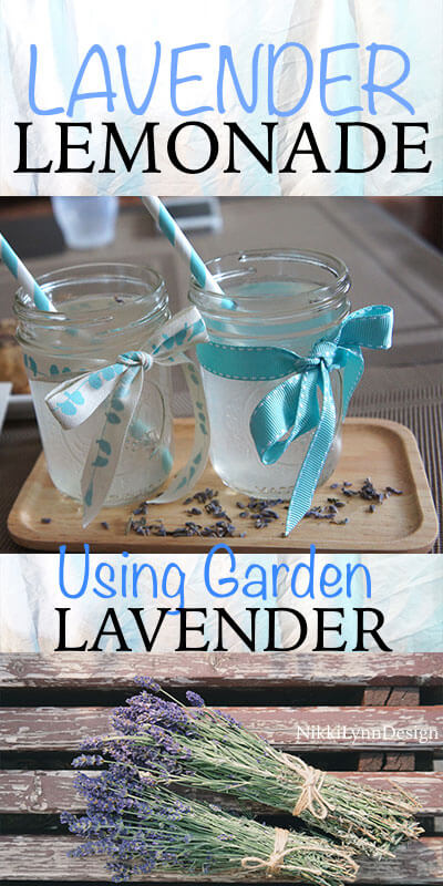 Lavender Lemonade- This is a wonderful way to use up some of your dried lavender from your flower garden. Makes an excellent refreshing drink. Just add lavender syrup for lemonade anytime you wish to change things up.