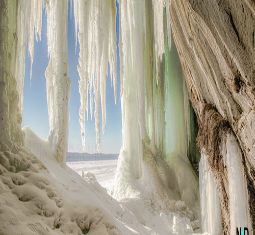 Grand Island Michigan Ice Caves