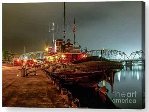 John Purves Tugboat at Night