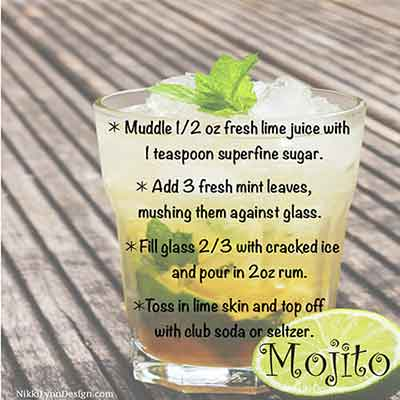 I grow my own mint for this refreshing Mojito drink.